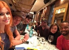 Image may contain: 6 people, people sitting, table and indoor Shadowhunters Tv Show, Big Group, Cast Member, The Infernal Devices, People Sitting, Shadow Hunters, The Mortal Instruments, It Cast, The Incredibles