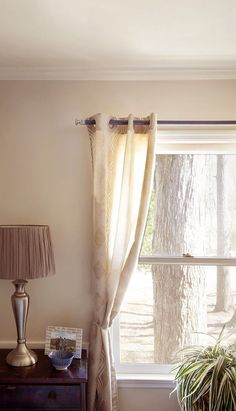 DIY Curtain Rods Made From Rope - The Home Depot | Easy diy ...