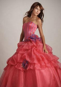 Organza With Quinceanera Dress Natural Waist Long
