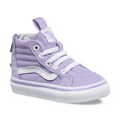 New Vans Sk8-Hi Zips in Lavender. Available at Yellow Dandy.