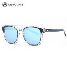 0775464a32 AEVOGUE Sunglasses Women Brand Designer Acetate Frame Double Bridge Sun  Glasses Coating Lens Classic With Box UV400 AE0367