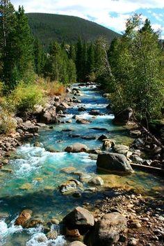 Snake River in beautiful Keystone, Colorado.