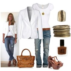 White <3. Those jeans <3