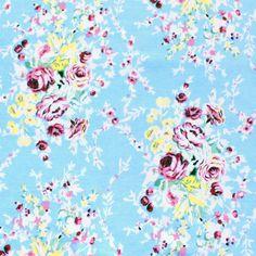Cranley Gardens Blue Cotton Spandex Knit  Girl Charlee