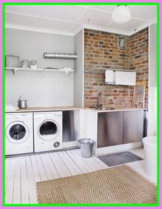 laundry brick domkupit door creative grey
