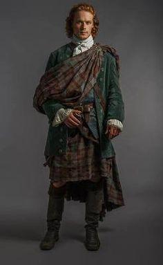 Sam Heughan as James Alexander Malcomb Mackenzie Fraser, dressed in full highlander regalia for his wedding on STARZ Outlander