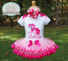 Pinky Pie, My Little Pony Tutu Set-Includes Top/onesie, Tutu, and Hair Accessory