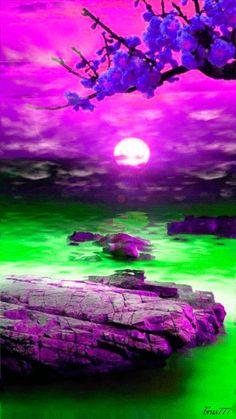 Download Animated 360x640 «Сказочный пейзаж» Cell Phone Wallpaper. Category: Nature