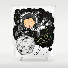 Travel Shower Curtain by MIKART | Society6
