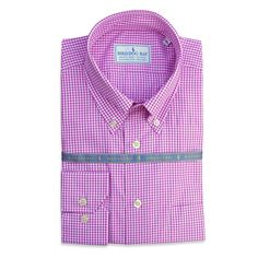 Bird Dog Bay's dress shirts are 100% Egyptian combed cotton, milled in Italy, and designed by Steve to match their neckties. The collar is a classic 3.5″ button down featuring posted Italian buttons and a split back yoke. The dress shirt features a contemporary English cut and are sized to fit.   Made by Bird Dog Bay
