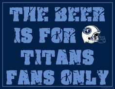 Tennessee Titans Fan Sign - Man Cave Sign