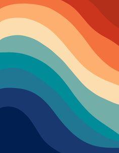 Retro Summer Wave Art Print by anitabellajantz Cute Patterns Wallpaper, Retro Wallpaper, Retro Background, Background Patterns, Iphone Wallpaper Tumblr Aesthetic, Aesthetic Wallpapers, Vintage Colour Palette, Apple Watch Wallpaper, Whatsapp Wallpaper