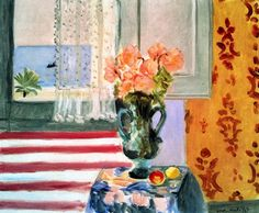 Vase of Flowers in front of the Window Henri Matisse - 1924 Does it have something to do with American flag?