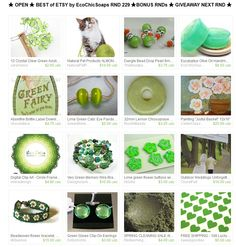 ★ OPEN ★ BEST of ETSY by EcoChicSoaps RND 229 ★BONUS RNDs ★ GIVEAWAY NEXT RND ★  Please join us at:  http://www.etsy.com/treasury/MTI4MzMwMjh8MjcyMDI1MTY4Nw/open-best-of-etsy-by-ecochicsoaps-rnd