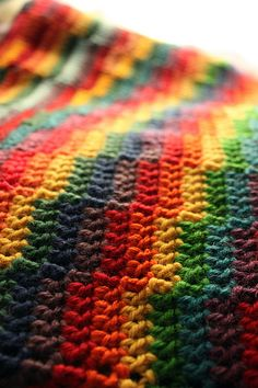 Rainbow-y hooking - Crochet blanket <3