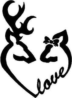 Hunting Couple Monogram Deer Couple Deer Monogram Decal Antler - Couple custom vinyl decals for car