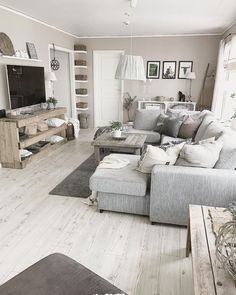 Amazing Small Apartment Living Room 50 - Galoresolution Inc Living Room Grey, Home Living Room, Interior Design Living Room, Living Room Decor, Living Room Ideas With Grey Walls, Chabby Chic Living Room, Grey Living Room Curtains, Kitchen Interior, Modern Living Room Designs