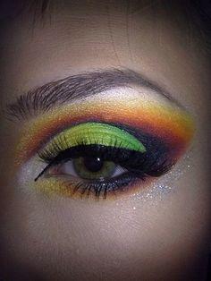 #makeup #eyes #neon