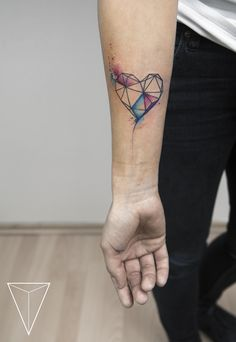 missPANK tattoo  geometric heart  https://www.facebook.com/misspanktattoo/?fref=ts