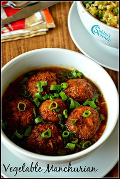 Vegetable Manchurian Gravy Recipe | Subbus Kitchen
