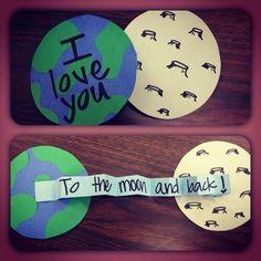 Te amo hasta la Luna y de regreso.