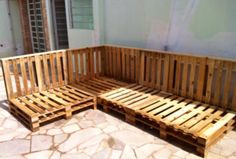 Pallet Patio Sectional Sofa Set
