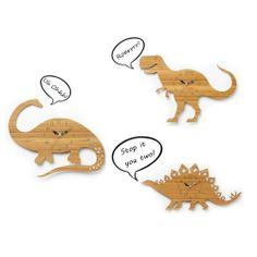 Laser cut, laser engrave Dinosaur clocks