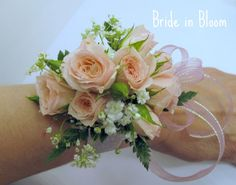 Prom Flowers Beautiful Wrist Corsages White And Navy