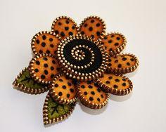 Zipper and felt pin (brooch) by woolly  fabulous, via Flickr