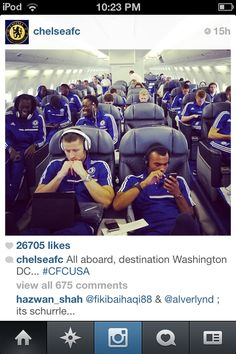 No big deal your just on a flight with the best EPL team ever<333