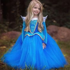 new princess girl dress autumn long A-line evening dress for birthday lace tutu long gown for girls kid child baby girls clothes
