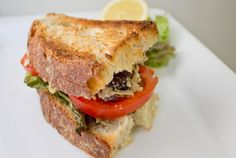 Artichoke and Olive Tapenade Sandwich