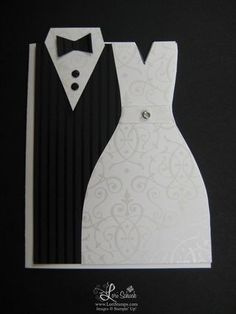 Bride & Groom card by ltschuch - Cards and Paper Crafts at Splitcoaststampers Wedding Shower Cards, Wedding Cards, Wedding Images, Diy Wedding, Love Cards, Diy Cards, Pinterest Cards, Wedding Anniversary Cards, Wedding Card Templates