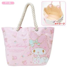 1eff012a98d9 My Melody Rope Handle Strap Tote Bag Doll SANRIO JAPAN