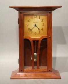Arts and Crafts, Craftsman, Clocks Craftsman Clocks, Craftsman Furniture, Farmhouse Furniture, Mantel Clocks, Wood Clocks, Antique Clocks, Craftsman Style Bungalow, Craftsman Homes, Art Nouveau Furniture