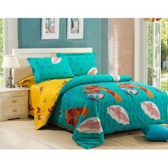 4-piece luxury cotton bedding sets Beach Party