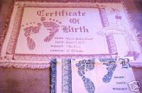 Birth Certificate Throw $49.95