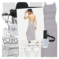 """""""Yoins"""" by lunaarmani ❤ liked on Polyvore featuring Maison Michel, Trish McEvoy, The Flexx and yoins"""