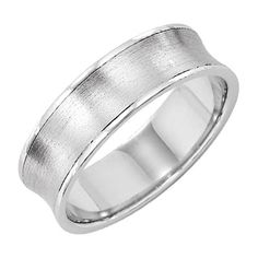 Concave men's wedding band from Lieberfarb