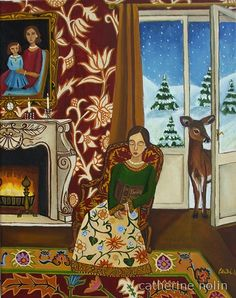 """Family Album"" by Catherine Nolin.  Acrylics on canvas, 2011."