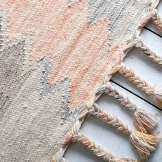 Ikat Diamond Dhurrie Rug | west elm