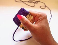 DIY Neon Rope Cuff Bracelet