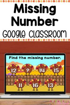 Are you teaching math remotely? If so this digital Thanksgiving missing number activity is perfect for you! This Google Classroom resource includes 36 different interactive slides for students to practice the missing number. Your preschoolers, kindergarteners, and first graders will love this engaging activity!