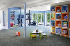 Exercise room glass enclosed