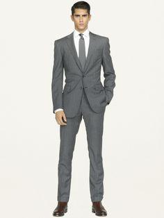 ralph lauren black label anthony wool dot-striped suit