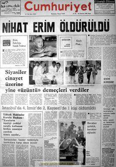 Cumhuriyet gazetesi 20 temmuz 1980 Newspaper Headlines, Old Newspaper, Turkey History, Newspaper Archives, Whirlpool Galaxy, Andromeda Galaxy, Olay, Astronomy, Istanbul