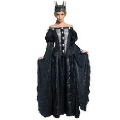 Snow White and The Huntsman Deluxe Queen Ravenna Costume - Adult, Size: Medium, Black