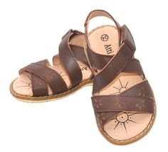 These stylish little girls sandals from Atti & Anna feature premium leather upper, linings and footbeds for all day comfort and dryness during summer.