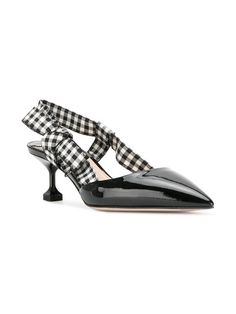 2c6130e0b23 Gingham Print Heels and Pumps for Spring and Summer. Kitten HeelsFashion  PrintsMiu ...
