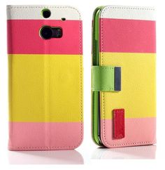 myLife Fruity Pink + Sun Burst Yellow Stripes {Modern Design} Faux Leather (Card, Cash and ID Holder + Magnetic Closing) Slim Wallet for the...